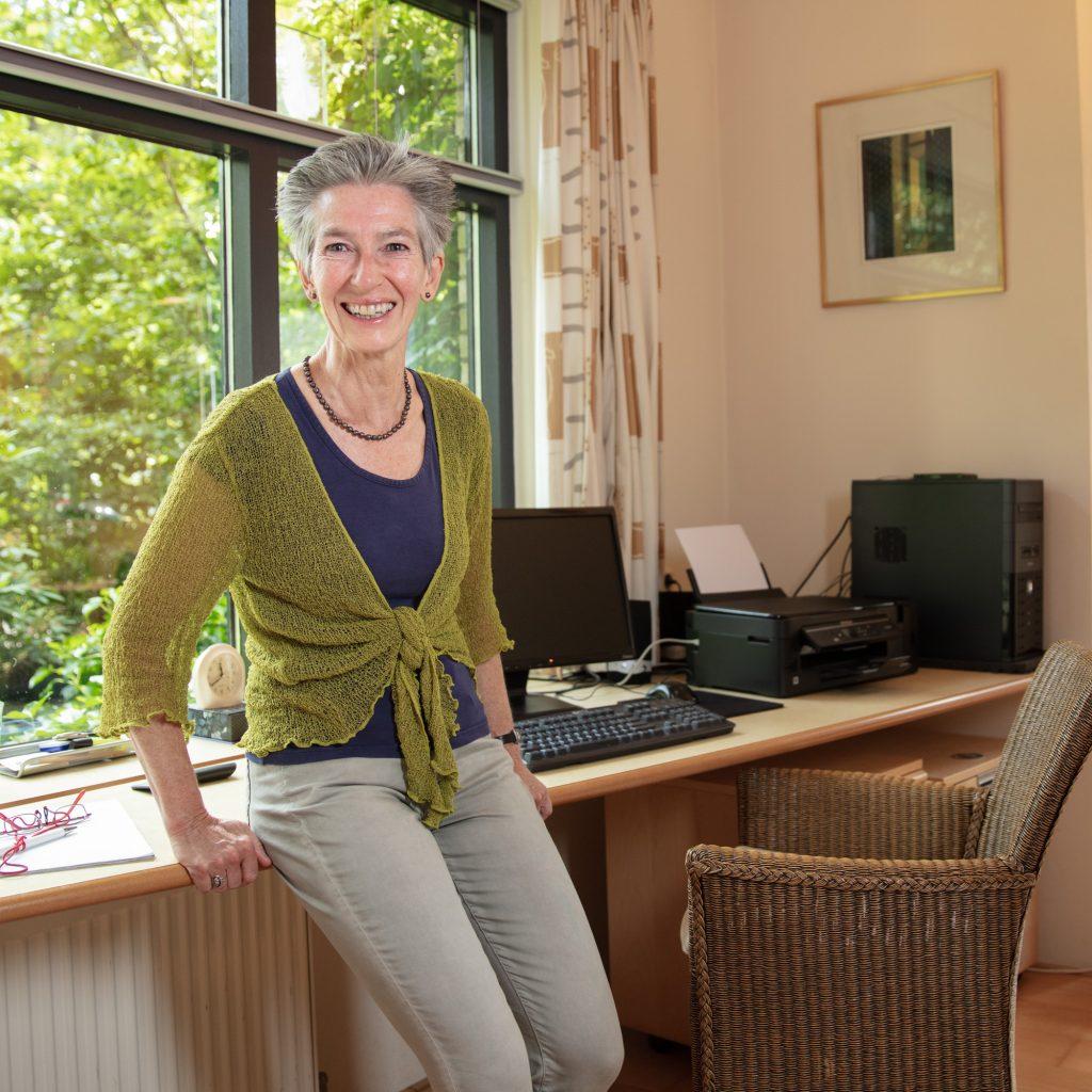 Mieke de Maaré in haar coachingsruimte Op Dreef